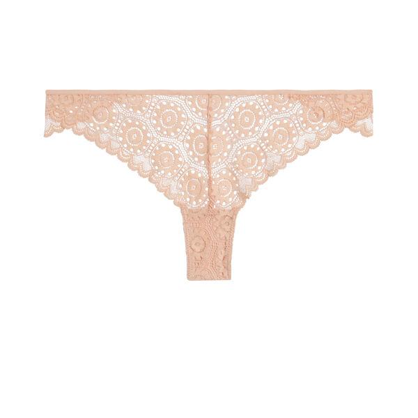 Laceriz裸色三角裤;
