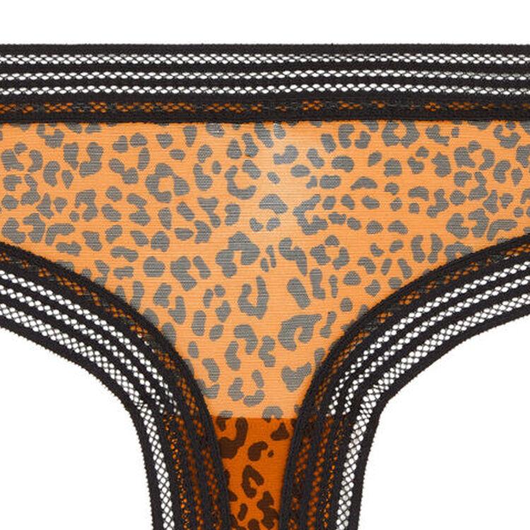 Shorty en tulle imprimé léopard wafiz leopiz camel.