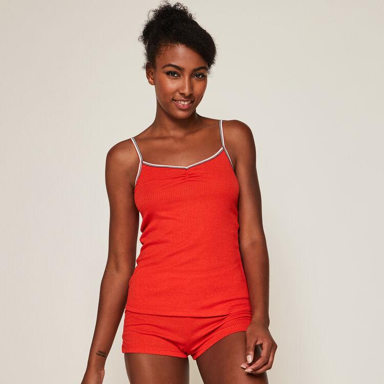 Set pyjama deux pièces en jersey raycooliz rouge.