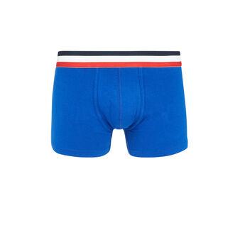Oreliz蓝色长款平角裤 blue.