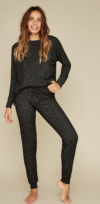 Pantalon noir quodiz black.