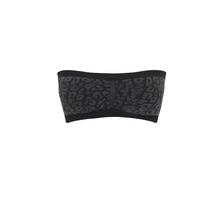 Bandeau imprimé léopard sans coutures seamleopiz noir.