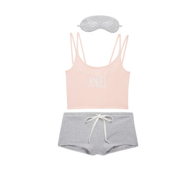 Ensemble de pyjama rose angeliz;${refinementColor}