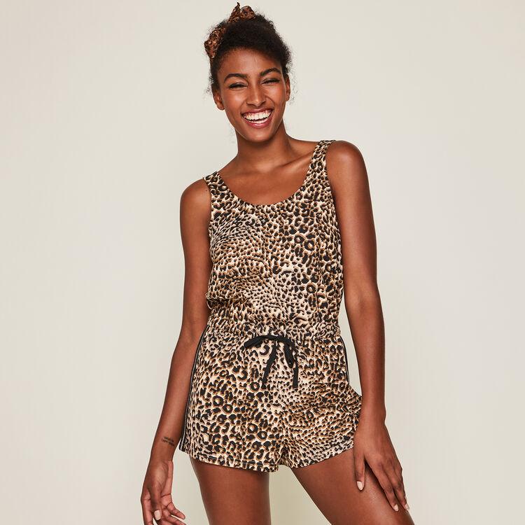Combi-short en jersey imprimé léopard leoversiz chair.