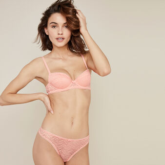 Aviciz鲑鱼粉半丁字裤 pink.