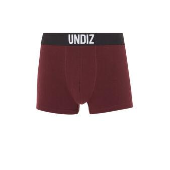 Mycandiz酒红色棉质长款平角裤 red.