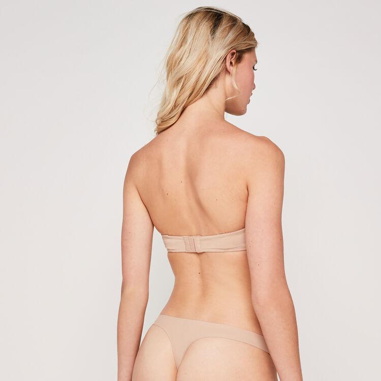 裸色微纤维一片式文胸;