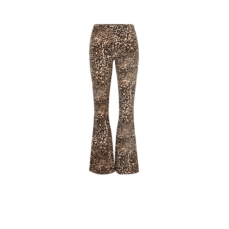 Pantalon flare imprimé léopard leoversiz chair.