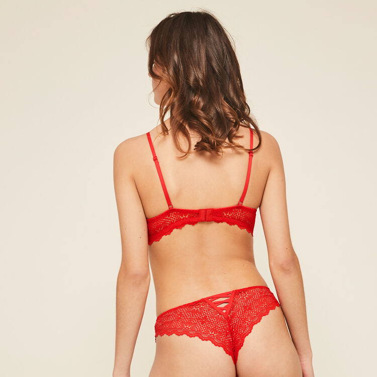Soutien-gorge mahaliz bustier push rouge mahaliz;