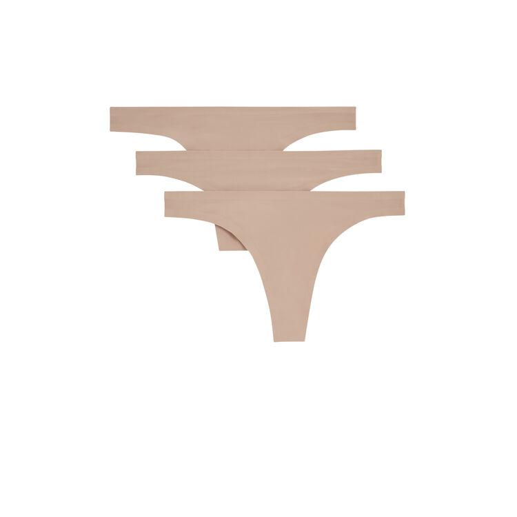 裸色微纤维丁字裤三条装 skin.