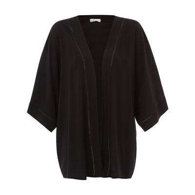 Kimono noir catigriz;${refinementColor}