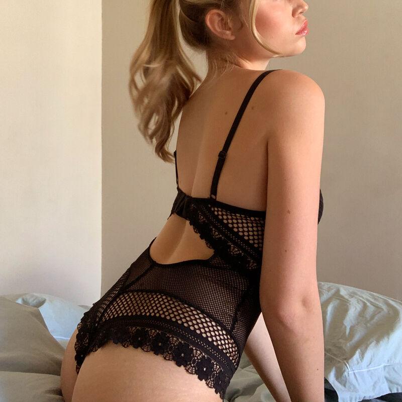 Body ampliforme détail bijou - noir;