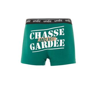 Chagardiz绿色棉质长款平角裤 green.