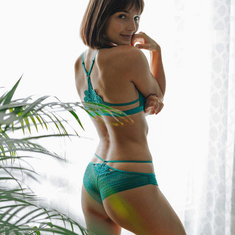 Soutien-gorge triangle coqué - vert;