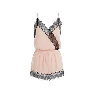 Peepshowiz粉色连身短裤 ;
