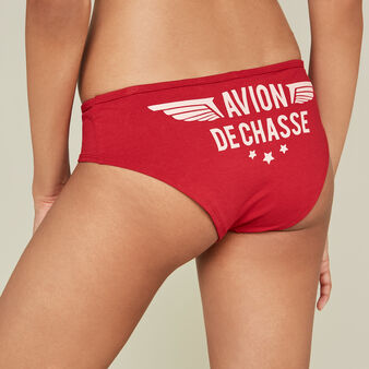 Bulpensiz红色短款平角裤 red.